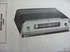 GROMMES 102GT TUNER RECEIVER PHOTOFACTS PHOTOFACT