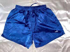 Puma Satin Nylon Soccer Shorts Royal Blue XL