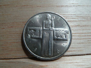 COIN 5 FRANCS HELVETIA SWITZERLAND 1863 1963