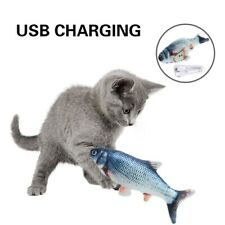 New Electric Usb Floppy Moving Fish Cat Toy, Realistic Plush Simulation For Cats