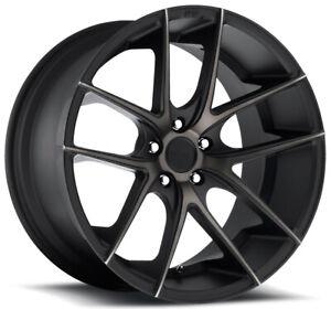 """Niche M130 Targa 18x8 5x100 +40mm Black/Machined/Tint Wheel Rim 18"""" Inch"""