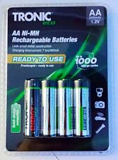 Tronic ECO Micro NiMH Rechargeable Batteries AA 1.2v 2400mah Pack Of 4