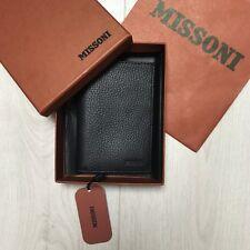 New MISSONI men's wallet card holder Leather Black RRP £180 100% Genuine BNWT