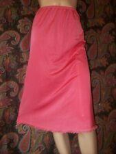 "Vintage Valair Pink Nylon Tricot A-line Half Slip S 28"""