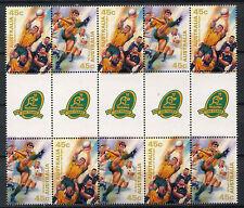Australia 1999 SG#1882-3 Test Rugby MNH Gutter Pairs Block #A77609