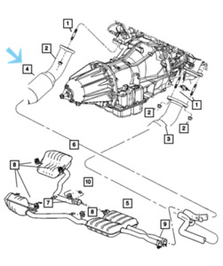 Genuine MOPAR Catalytic Converter Left 68039467AA