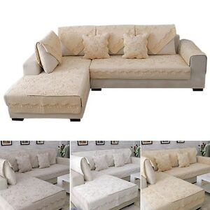 Chic Sofa Mat Non-slip Couch Pad Cover Quilting Slipcover Loveseat Protector 1pc