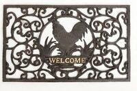 Paillasson Exterieur Style Romantique Fonte Marron Vintage Ancien Coq Welcome