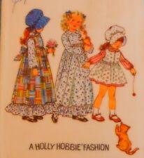 Vintage 5996 Simplicity Holly Hobbie Girls Dress Bonnet Pinafore Toddler Size 2