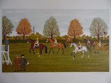 Vincent HADDELSEY signé le Imprimer à regarder les chevaux de compétition à Longchamp