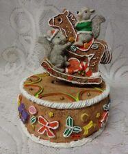 Vintage Christmas Gingerbread Cake Cookies Icecream Sugar n Spice Music Box