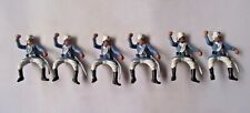 Britains Deetail Six Foreign Legion Mounted No Horses Raised Arm Black Pouches
