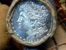 Uncirculated Bu+Dmpl 1902 End / Cc Top Q Morgan Dollar Roll$10 #Sdr945