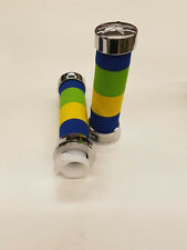 UNIVERSAL MOTORCYCLE AND  MOTORIZED BICYCLES  HAND GRIPS BLUE, YELLOW, GREEN