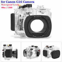40M 130ft Underwater Waterproof Diving Housing Case for Canon G16 Camera GB