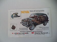advertising Pubblicità 1986 LADA NIVA