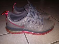 Nike Air Zoom max 360 Leather Waffle Skin Shoes Size 10.5 Rare Gray / Pink