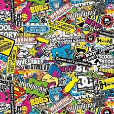 HYDROGRAPHIC FILM WATER TRANSFER HYDRODIPPING HYDRO DIP STICKER BOMB 7 1M