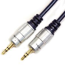 5M - 3.5mm Jack Plug To Plug Male Cable - Audio Lead For Headphone/Aux/MP3/iPod