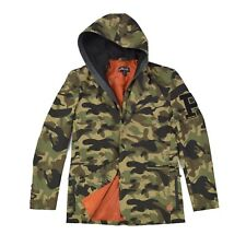 PELLE PELLE Herren Jacke L 52 Übergangsjacke Camouflage Kapuze Blazer Sakko wNEU