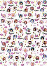2 Feuilles de Épais Brillant Filles Fée Princesse Papier Cadeau /& 2 étiquettes-cadeaux