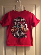 WWE Superstars Red T-Shirt - Cena Rock Orton Big Show Size 10-12