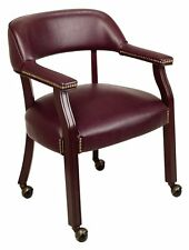 Office Star Traditional Guest Chair with Wrap Around Back and Casters TV231-JT4
