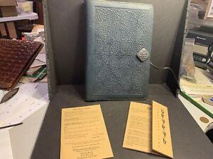 Vintage Oberon Design Leather Journal, Santa Rosa, CA