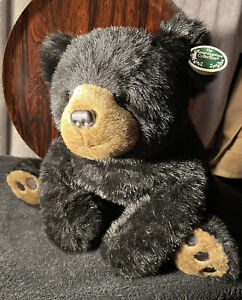 """The Bearington Collection 20"""" Mr Rocky Black Bear Plush Clean Condition with Tag"""