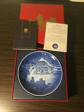 Bing & Grondahl 2019 Christmas Plate - Chopping Firewood (Mint Condition)