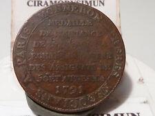 CIRA(13) (38) - MEDAILLE de 2 SOLS MONNERON - 1791 - RECHERCHEE & QUALITE TB !