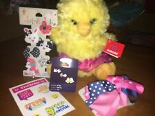 Claire's Sterling Easter Earrings Aurora Plush Chick Bunny Hair Justice Stickers
