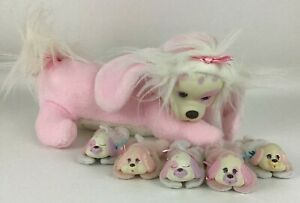 Puppy Surprise Plush Stuffed Dog Toy Lot w 5 Babies Collar Vintage 1992 Hasbro