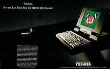 Publicité Advertising 099  1991   Toshiba informatique pc  micro-portable (2 pag