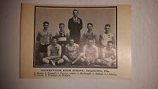 Gainesville High School Florida 1922-1923  Basketball Team Picture