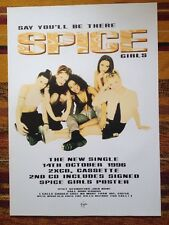 SPICE GIRLS - SAY YOU'LL BE THERE Original 1996 Uk Promo Poster