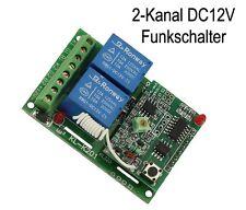 12V 2 Kanal Universal Funk Sender Empfänger Schalter Funkschalter + Handsender