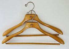 Lot 2 SEARS Heavy Duty Wooden Coat Wishbone Style Hanger Vintage Excellent!