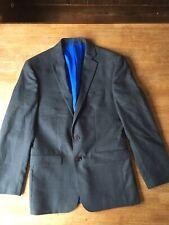 Charles Tyrwhitt Suit jacket Mens Grey 100% Wool tailored Blazer 38 S Slim Fit