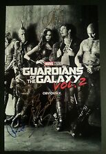 GUARDIANS OF THE GALAXY 2 Cast (x5) Authentic Hand-Signed VIN DIESEL 11x17 Photo