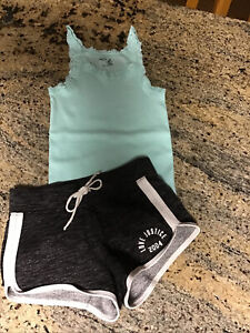 Girls Justice Knit Shorts And Gap Kids Tank Size 6/7