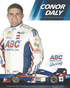 2017 INDY 500 CONOR DALY USA AJ FOYT ABC RACING INDYCAR 8x10 HERO CARD !