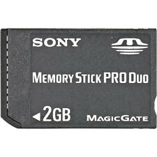 Sony 2 GB Memory Stick Pro Duo Memory Card MSX-M2GS Very Good PSP 0Z
