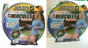Hercules Forever stainless steel garden hose + wind up Reel 50 or 25 Lightweight