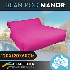 Bean Bag Cover Soft Bed Lounge Outdoor Indoor Camping Waterproof Beanbag Pink