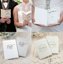Wedding Vows Book Ceremony Scroll Gift Keepsake Booklet Planner
