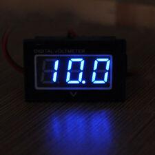 DC 3.0-30V Waterproof Battery Meter Auto Car Gauge Digital Voltmeter LED Blue