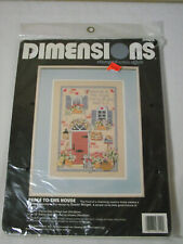 New Dimensions Stamped Cross Stitch Kit #3129 Peace to this House Vtg Usa-Made