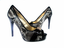 New Guess  Peep Toe Platform Pump Heel  Shoe ~Python Print  women's sz 6.5