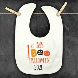 1st Halloween Personalised Baby Bib, Toddler customised Bandana Bib, 2021